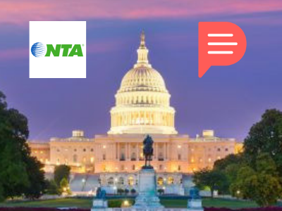 Partnership banner NTA and planify, national tour association, Planify, group travel itinerary solution